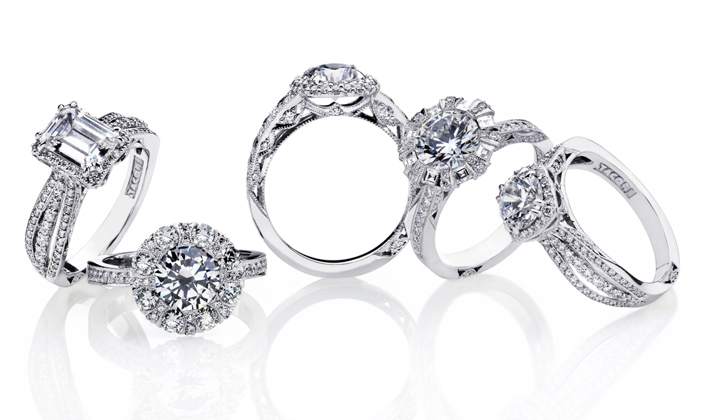 Tacori three stone engagement rings